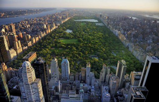 Overzicht van Central Park in New York