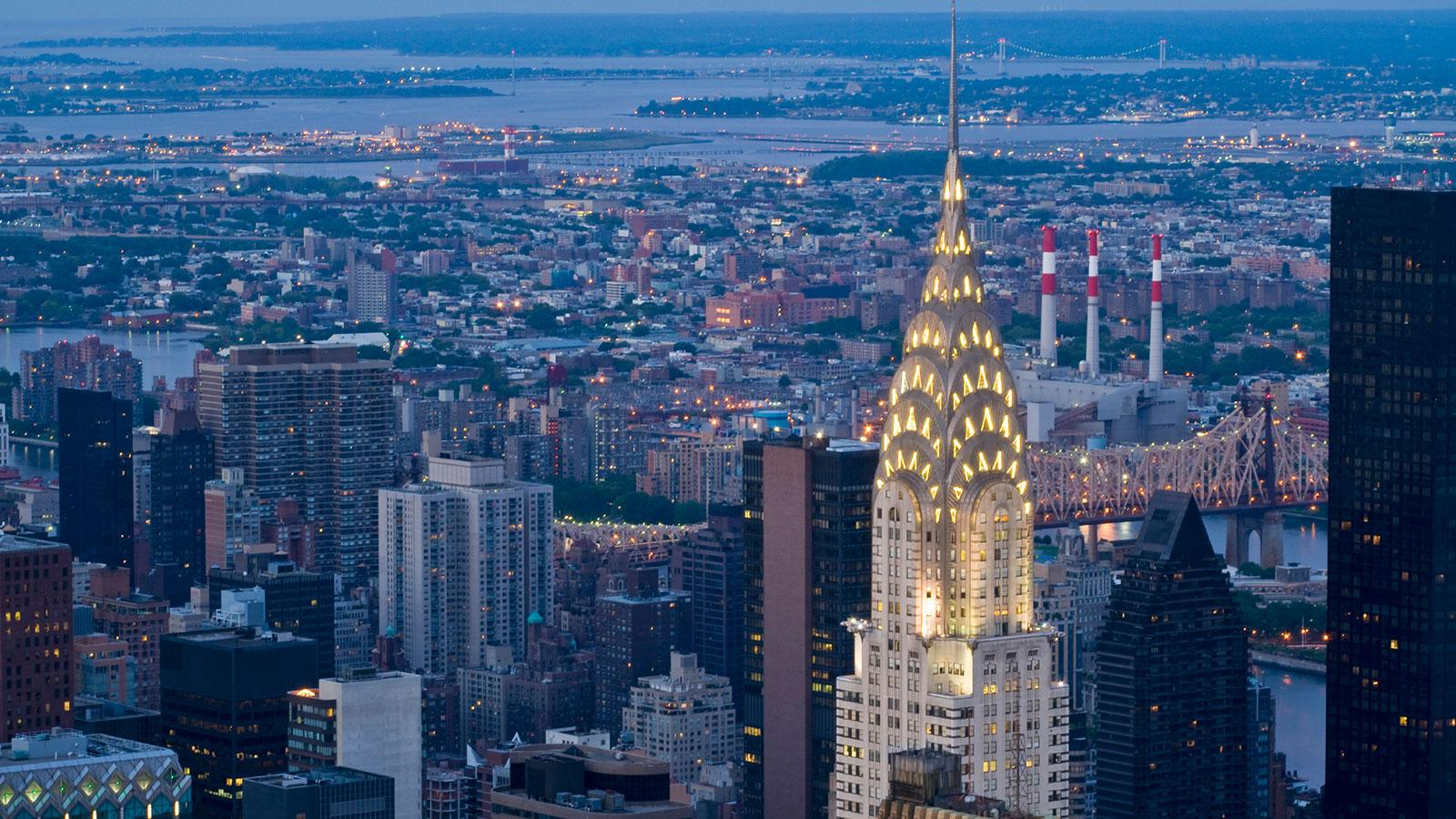Chrysler Building in de avond
